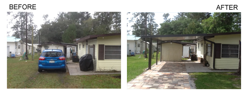 Before & After Carport Installation