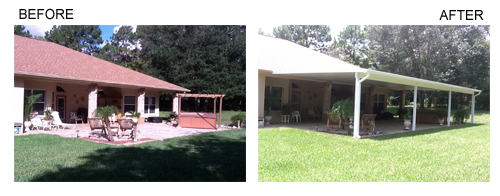 Before & After Patio Roof Installation