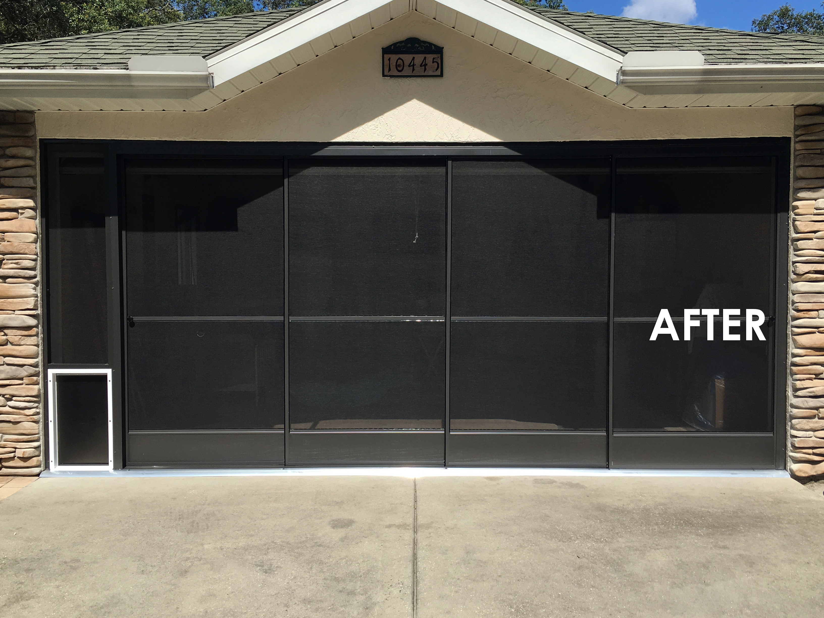 please slide arrow to view full before or after image double garages my screen design garage door picture garage picture custom