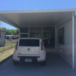 Screen Room with Carport on Mobile Home 2017-2